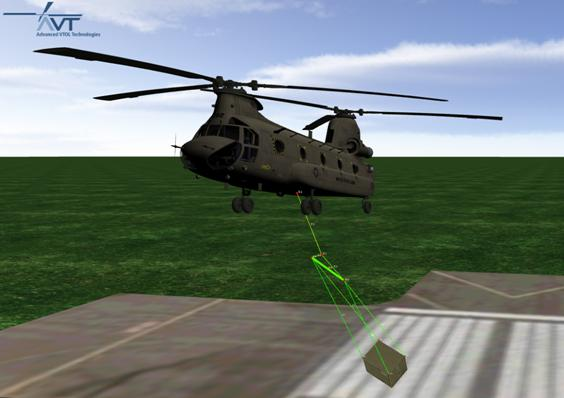 Chinook Slung Load Simulation